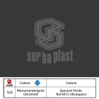 Serbaplast-Colori-serramenti-PVC-Spectral-Verde-Ral-6012-Ultraopaco