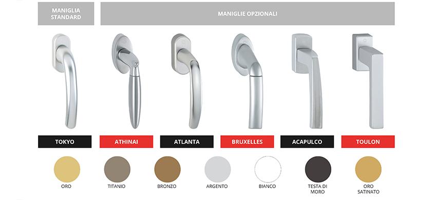 I Complementi dei serramenti | maniglie