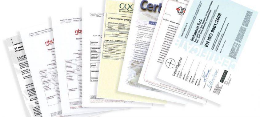 Serramenti in PVC certificati